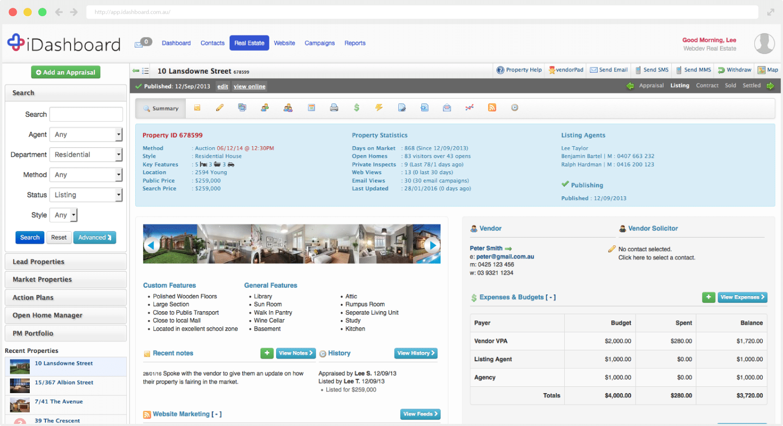 iDashboard Real Estate Software